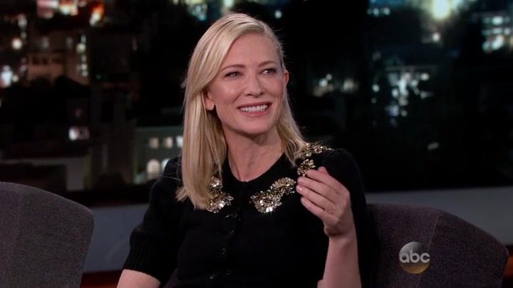 Cate Blanchett at Jimmy Kimmel Live!