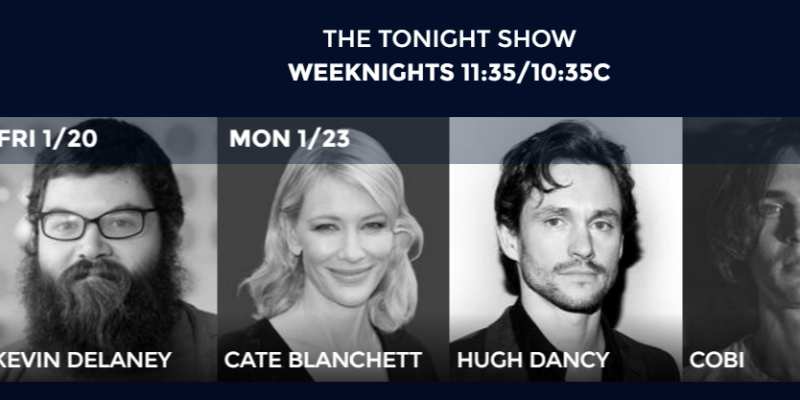 Cate Blanchett will be on The Tonight Show with Jimmy Fallon next Monday, January 23