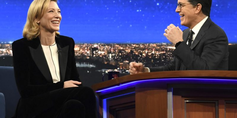 Video – Cate Blanchett at The Late Show with Stephen Colbert