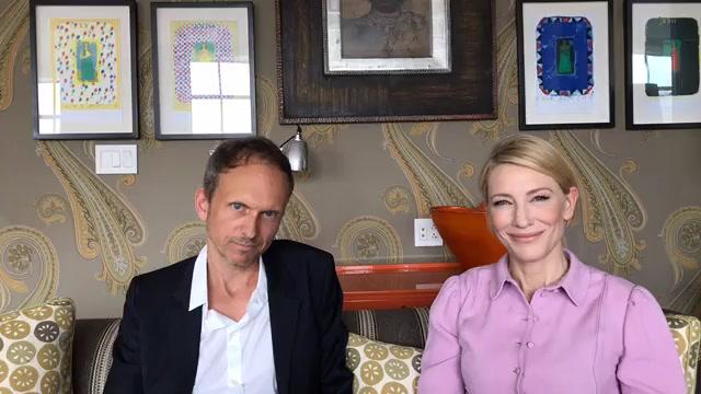 Cate Blanchett and Julian Rosefeldt promote Manifesto