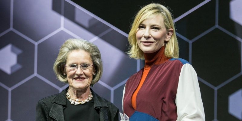 Cate Blanchett attends the Crystal Awards at the World Economic Forum