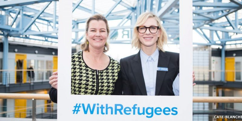Cate Blanchett meets UNHCR's top woman Kelly Clements for International Women's Day