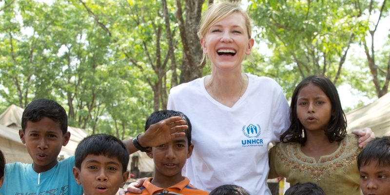 UNHCR Goodwill Ambassador Cate Blanchett visits Rohingya refugees in Bangladesh