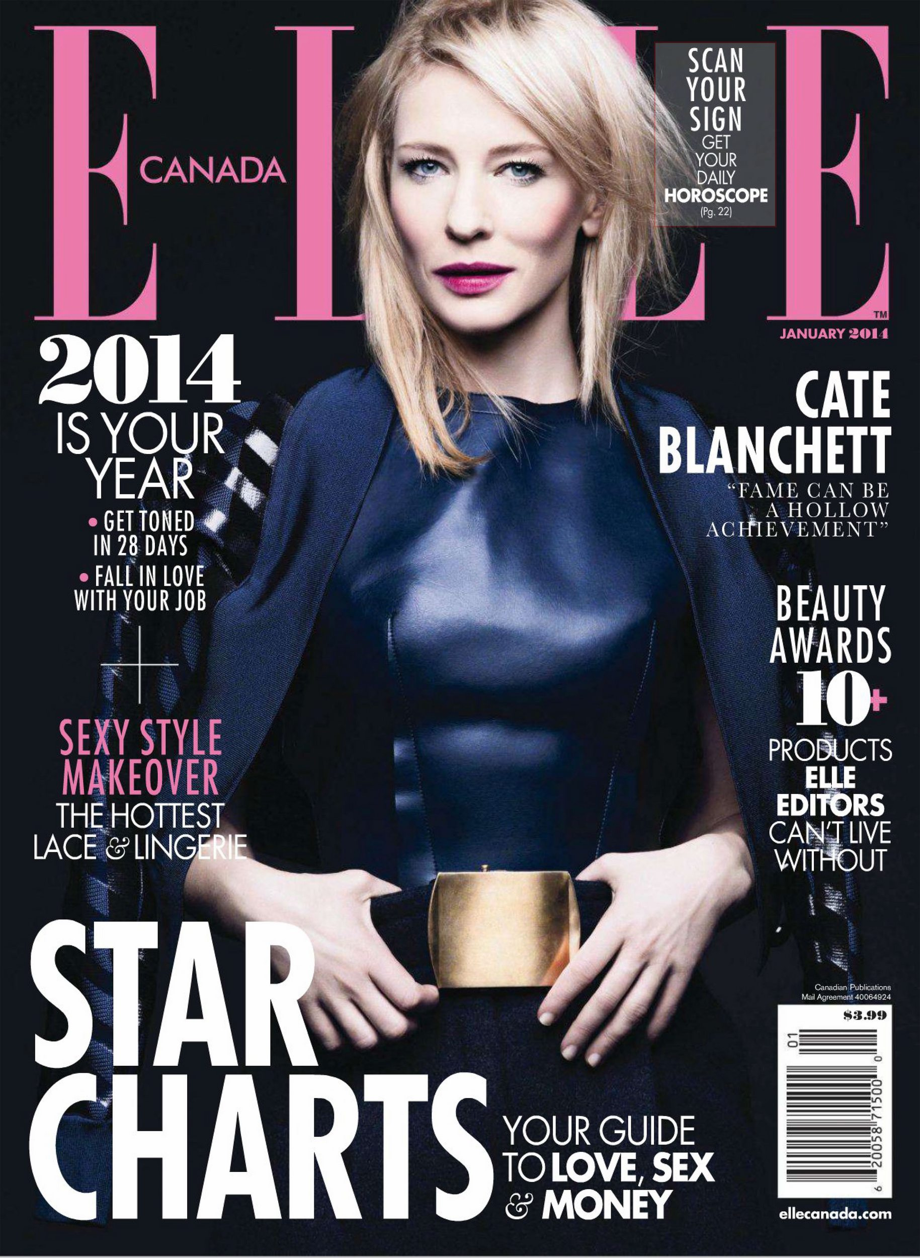 Elle Canada January 2014 Scans