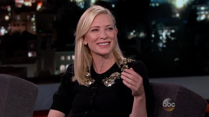 Cate Blanchett at Jimmy Kimmel Live!