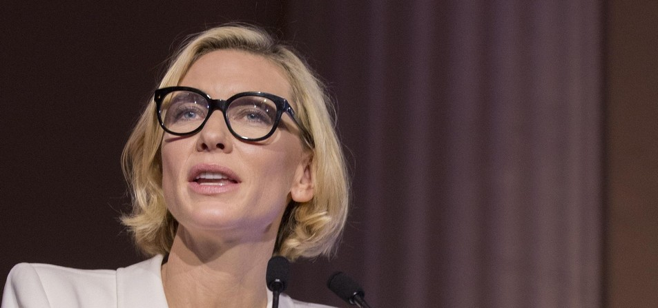 Cate Blanchett as UNHCR Goodwill Ambassador for Hands Up for Syria