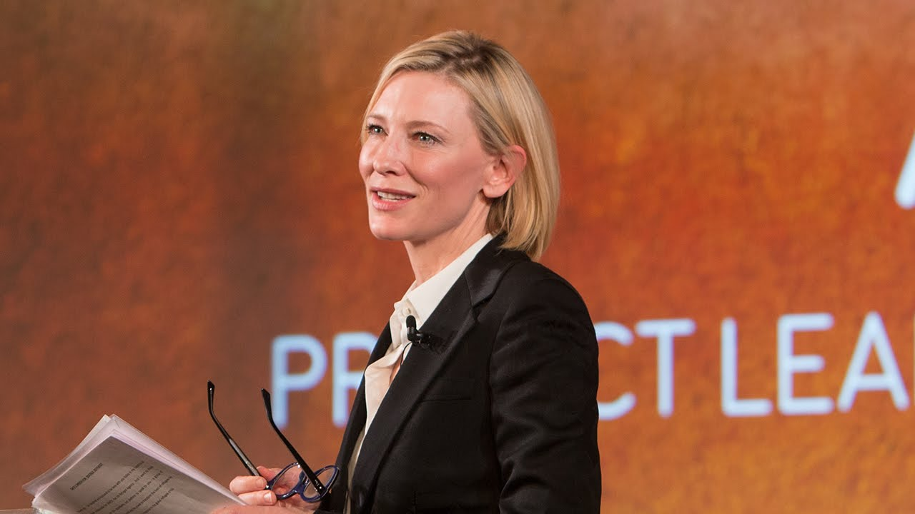 CATE BLANCHETT AT THE GOOGLE'S ZEITGEIST TALKS