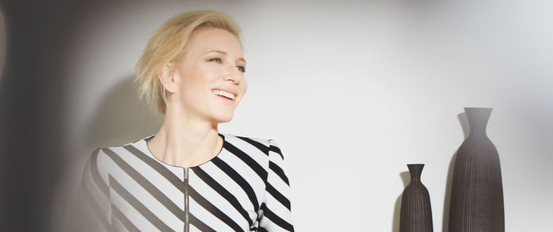 Cate Blanchett promotes Sì with Vogue Italy