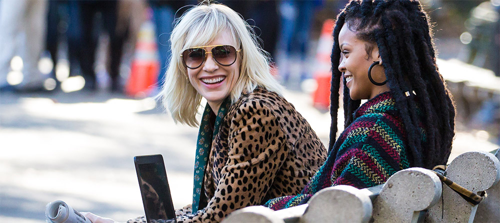 Cate Blanchett, Sandra Bullock and Rihanna on the Set of Ocean's Eight.