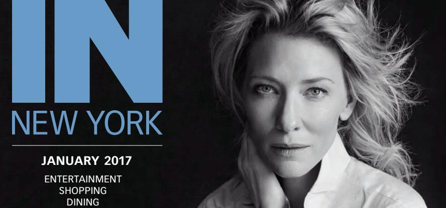 Cate Blanchett on the cover of IN New York (and more interviews)