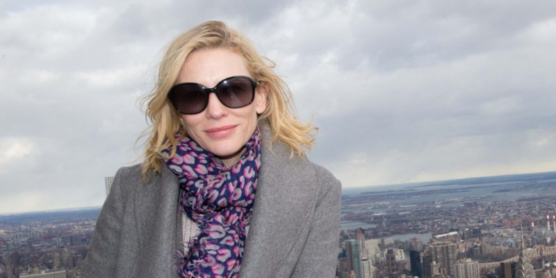 Cate Blanchett visits the Empire State Building