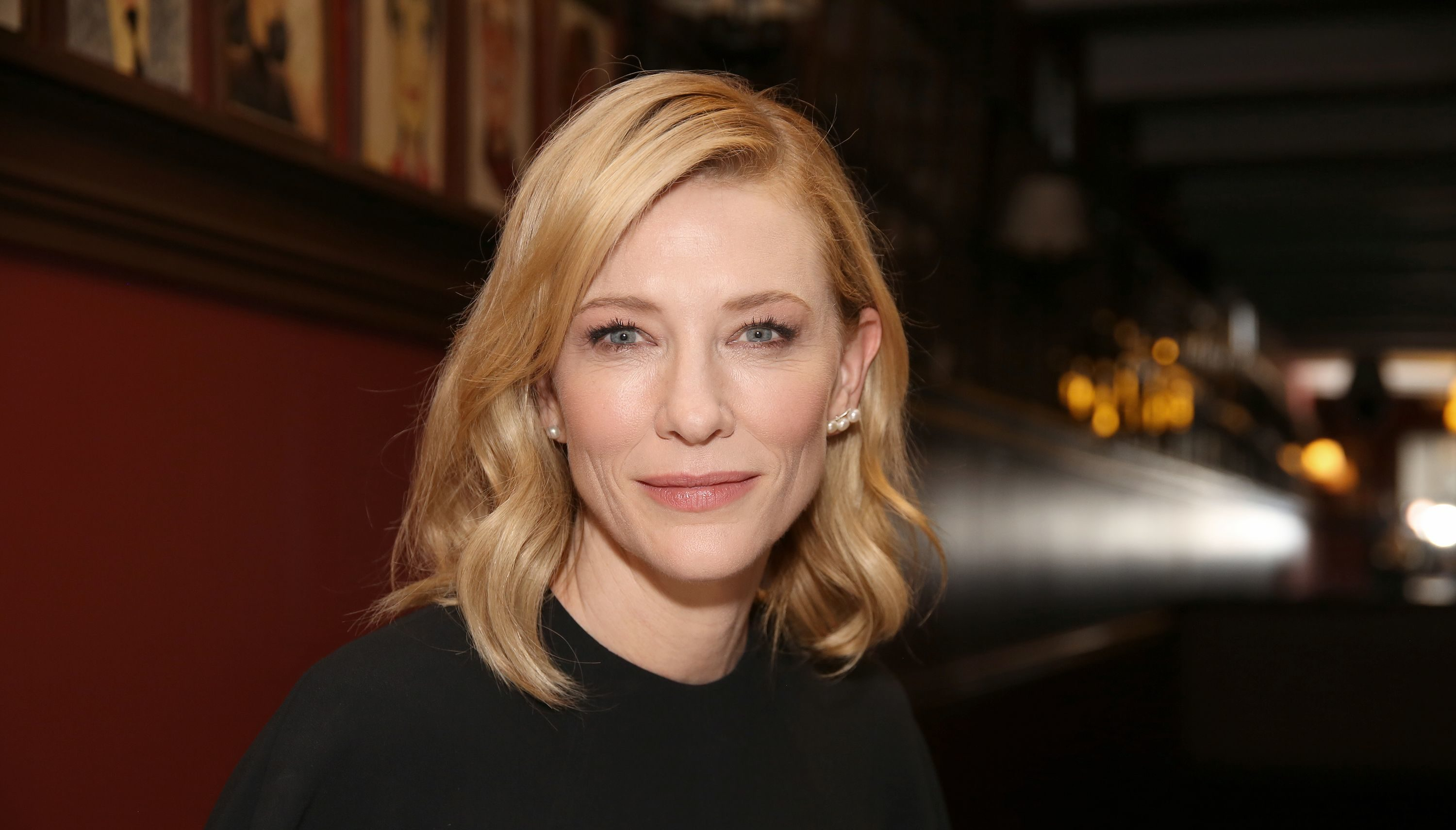 Cate Blanchett and Richard Roxburgh Sardi's caricature unveiling