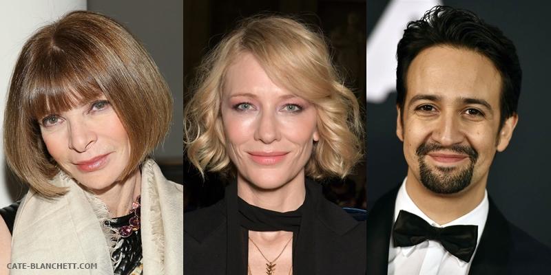 Cate Blanchett, Lin-Manuel Miranda & Anna Wintour co-host Evening Standard Awards on 3 Dec