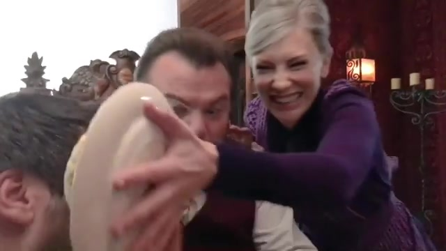 "Cate Blanchett & Jack Black in a funny video from the set of ""The House With A Clock In It's Walls"""