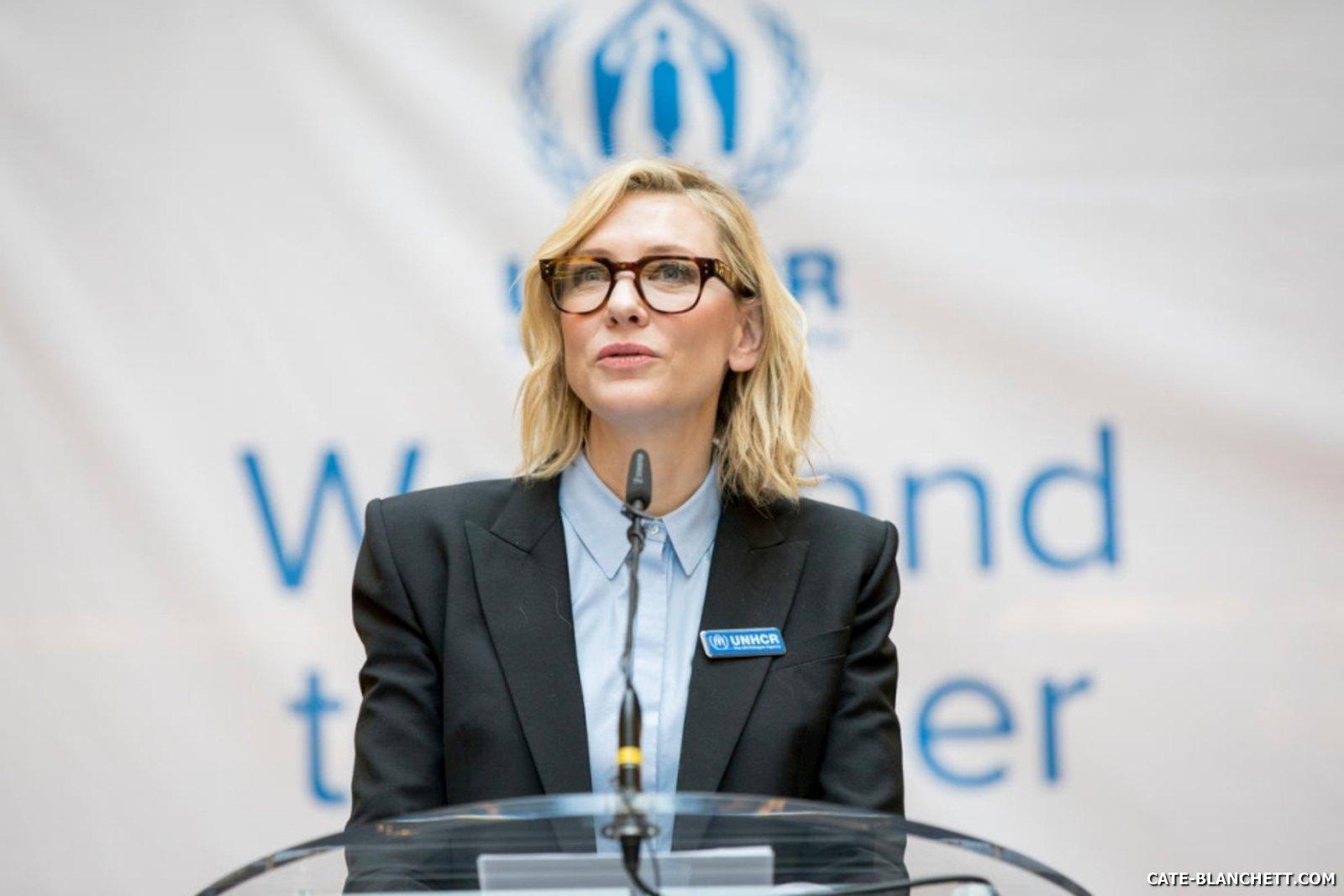 Goodwill ambassador Cate Blanchett visits UNHCR's headquarters in Geneva
