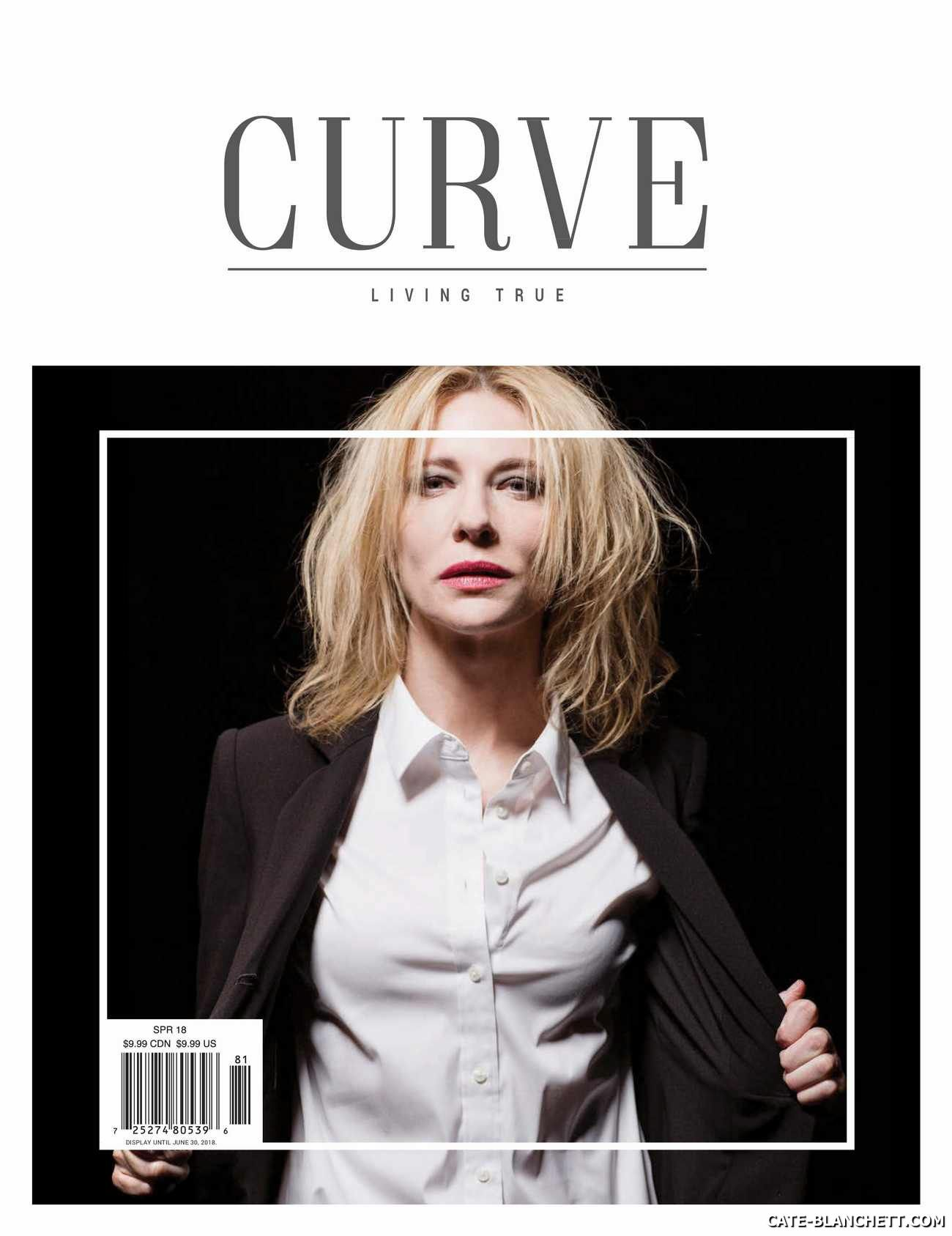 Cate Blanchett on the cover of Curve Magazine