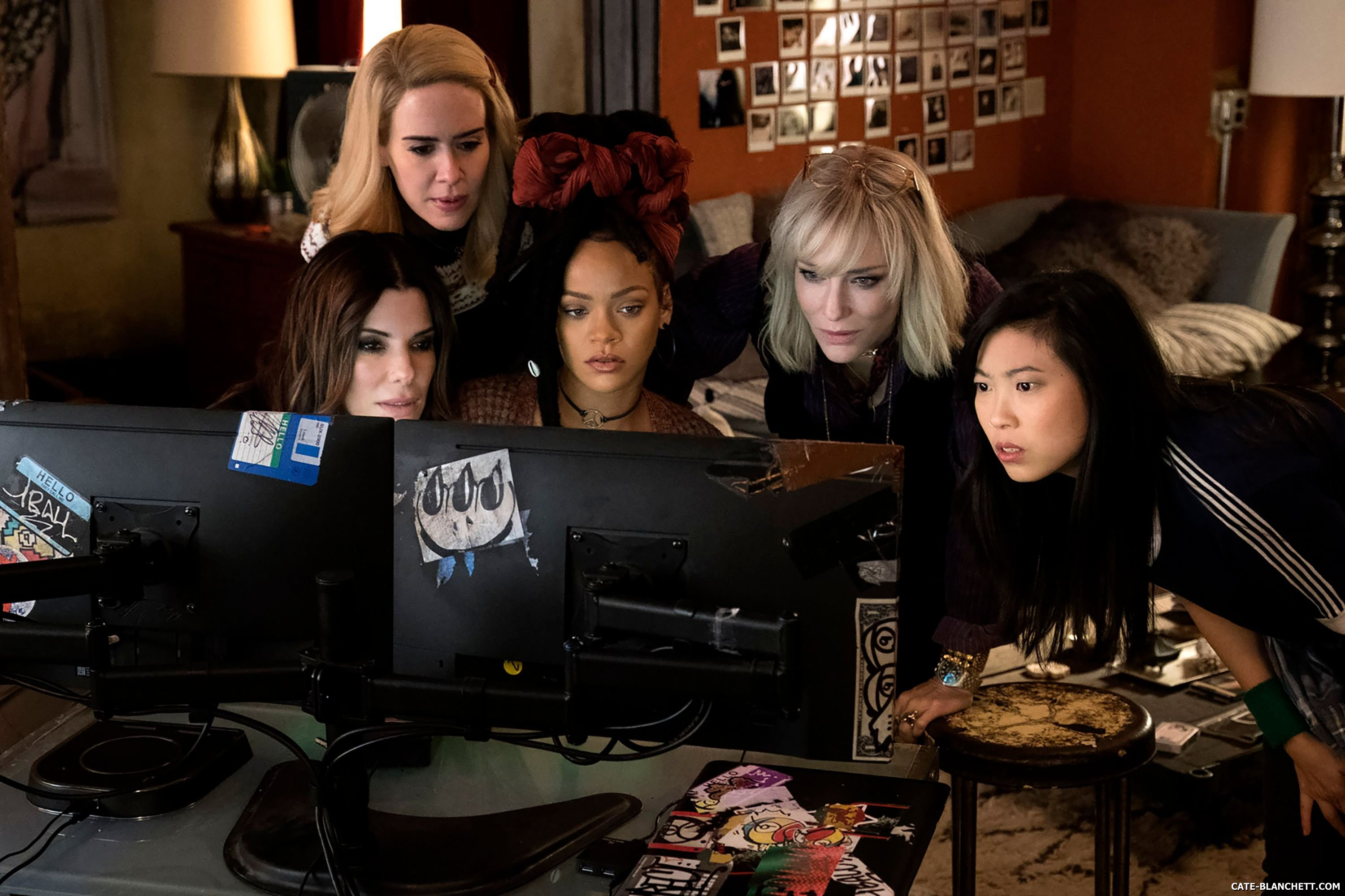 New still for Ocean's 8 starring Sandra Bullock and Cate Blanchett