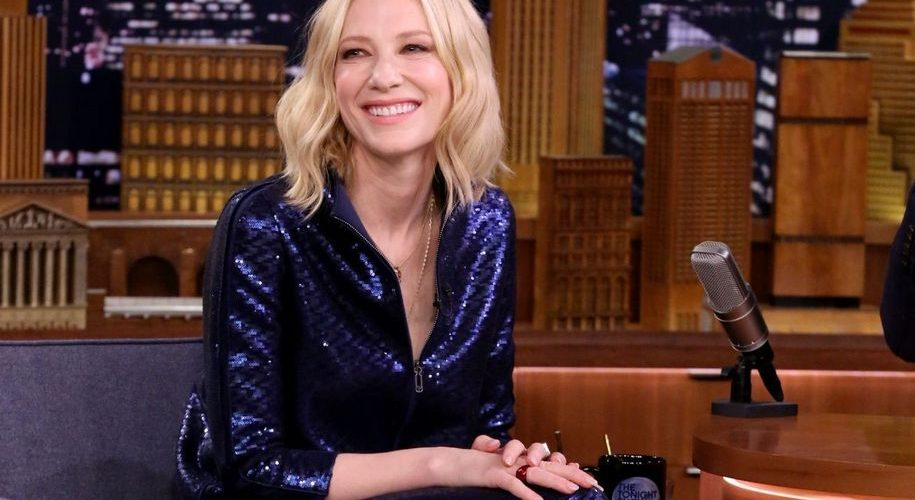 Cate Blanchett at The Tonight Show