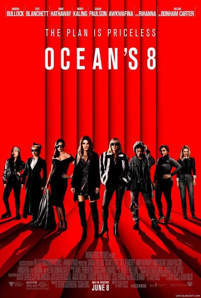 Cate Blanchett Fan Ocean's 8 Poster