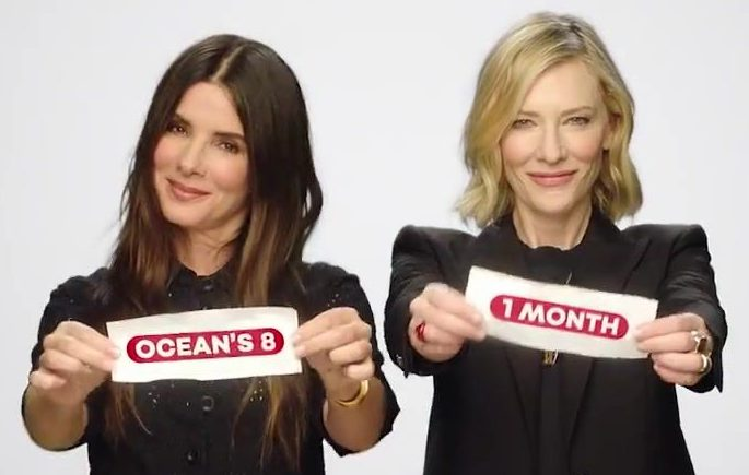 New Ocean's 8 Promo + Cannes Interview +BTS Still