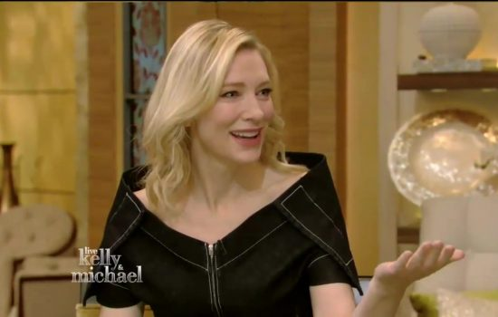 Cate Blanchett to attend Live with Kelly & Ryan on June 05
