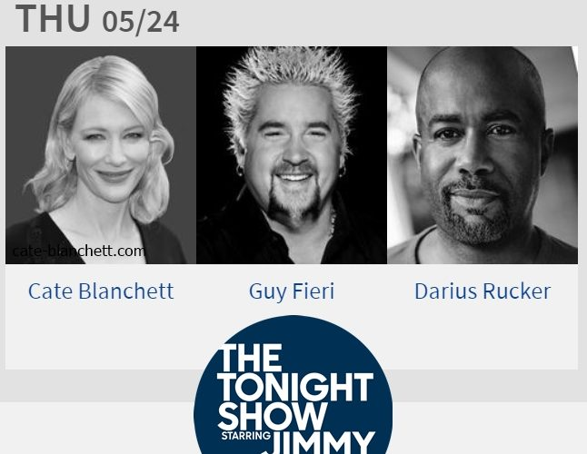 Cate Blanchett will be at The Tonight Show Starring Jimmy Fallon next Thursday