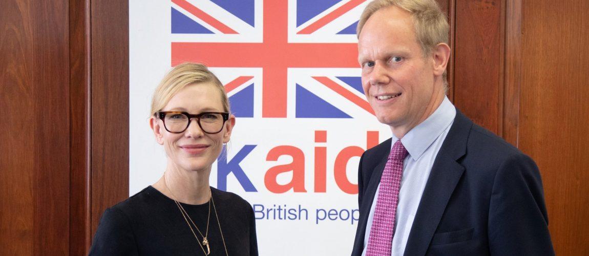 UNHCR Goodwill Ambassador Cate Blanchett attends event in London, UK