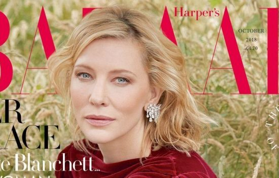 Cate Blanchett covers Harper's Bazaar UK October issue