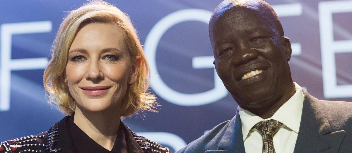Cate Blanchett at the 2018 UNHCR Nansen Refugee Award ceremony