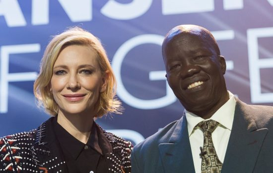 Cate Blanchett at the 2018 UNHCR Nansen Refugee Award ceremony