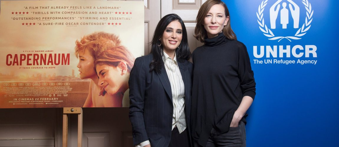 UNHCR Goodwill Ambassador Cate Blanchett at a Capernaum screening in London.