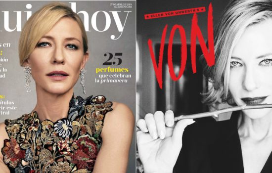 Cate Blanchett covers Mujer Hoy Spain + Ellen von Unwerth's VON magazine