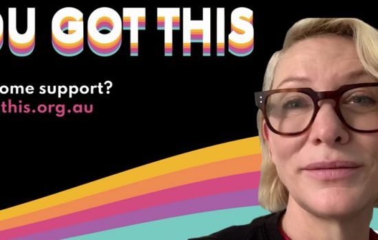 Cate Blanchett's You Got This video in support of Year 12 students in Australia
