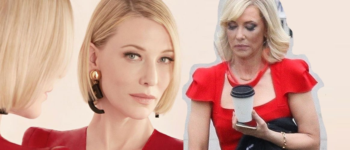 First Look of Cate Blanchett on set of Don't Look Up and Sì Eau de Parfum Intense Promotional Photos