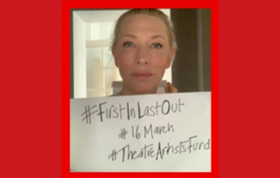 Cate Blanchett supports Theatre Artists Fund
