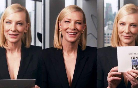 Cate Blanchett at the 2021 Indie Spirit Awards