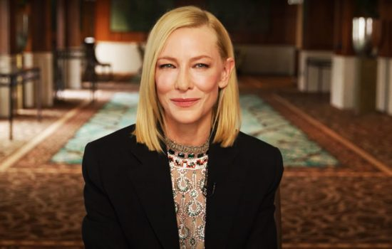 Cate Blanchett presents Book of the Year Award at 2021 ABIA; & on set photo of Borderlands